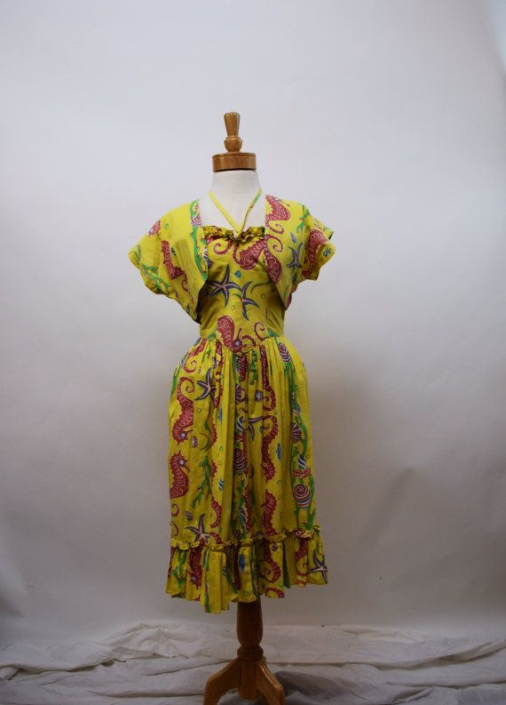 e6977efaa8d4 1950s Kamehameha Hawaiian Dress Hawaiian Wear