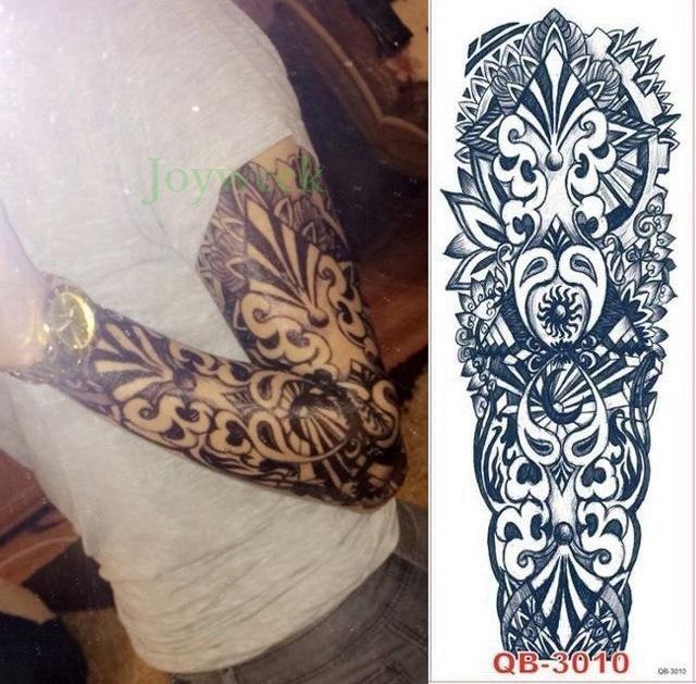 Waterproof Temporary Tattoo Sticker Full Arm Large Size Robot Arm Tatto Flash Tatoo Fake Tattoos Full Sleeve Tattoos Tattoo Sleeve Designs Black Sleeve Tattoo
