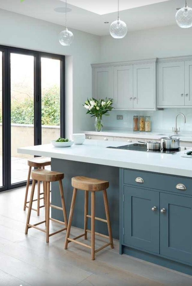 Lovely painted kitchen cabinets two tone design ideas ...