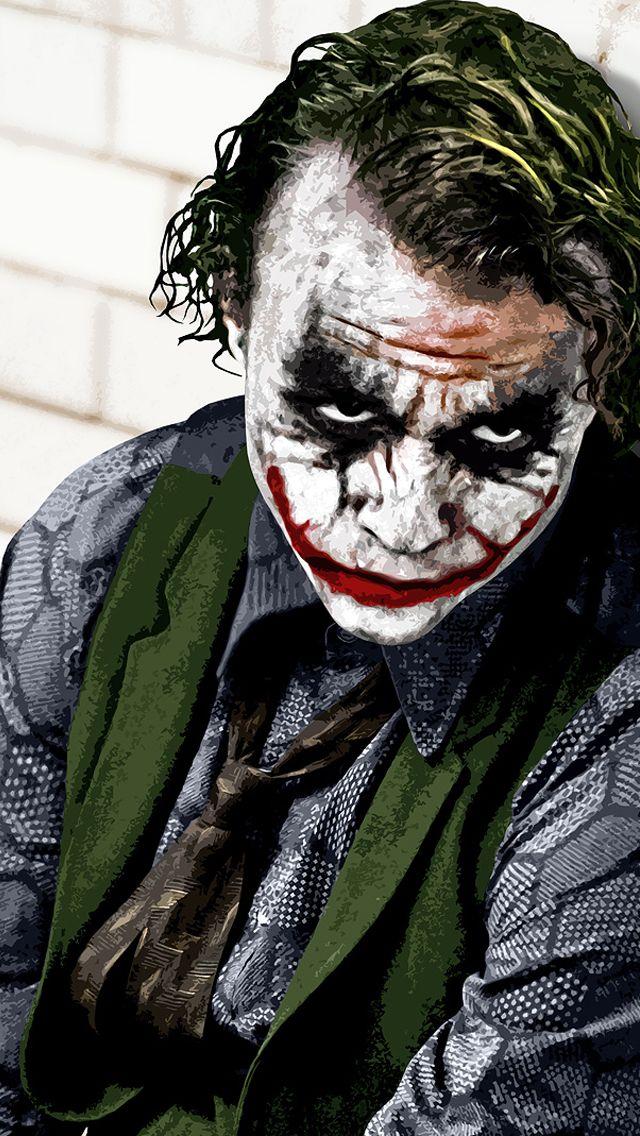 Heath Ledger The Joker iPhone Wallpaper Pinterest