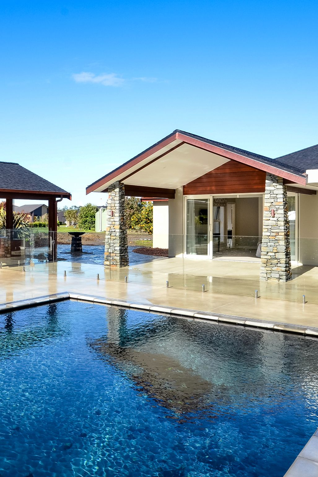 Mini Post Pool Fencing For A Discreet Frameless Look Pool Fence House Styles Glass Balustrade