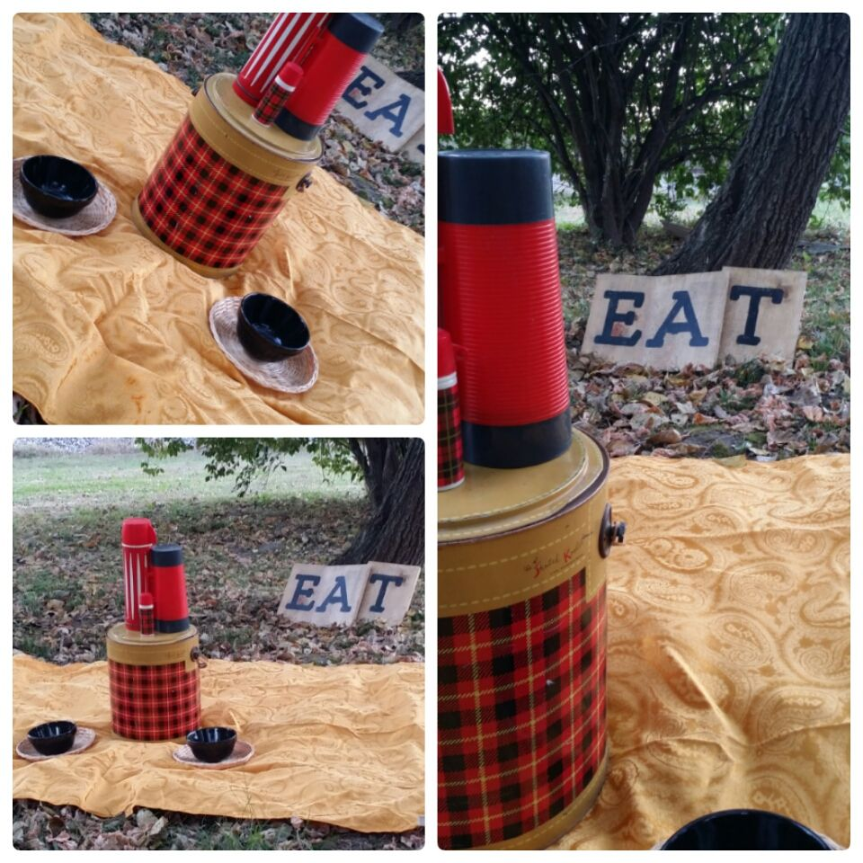 Gold, Red, and Black Plaid Fall Picnic