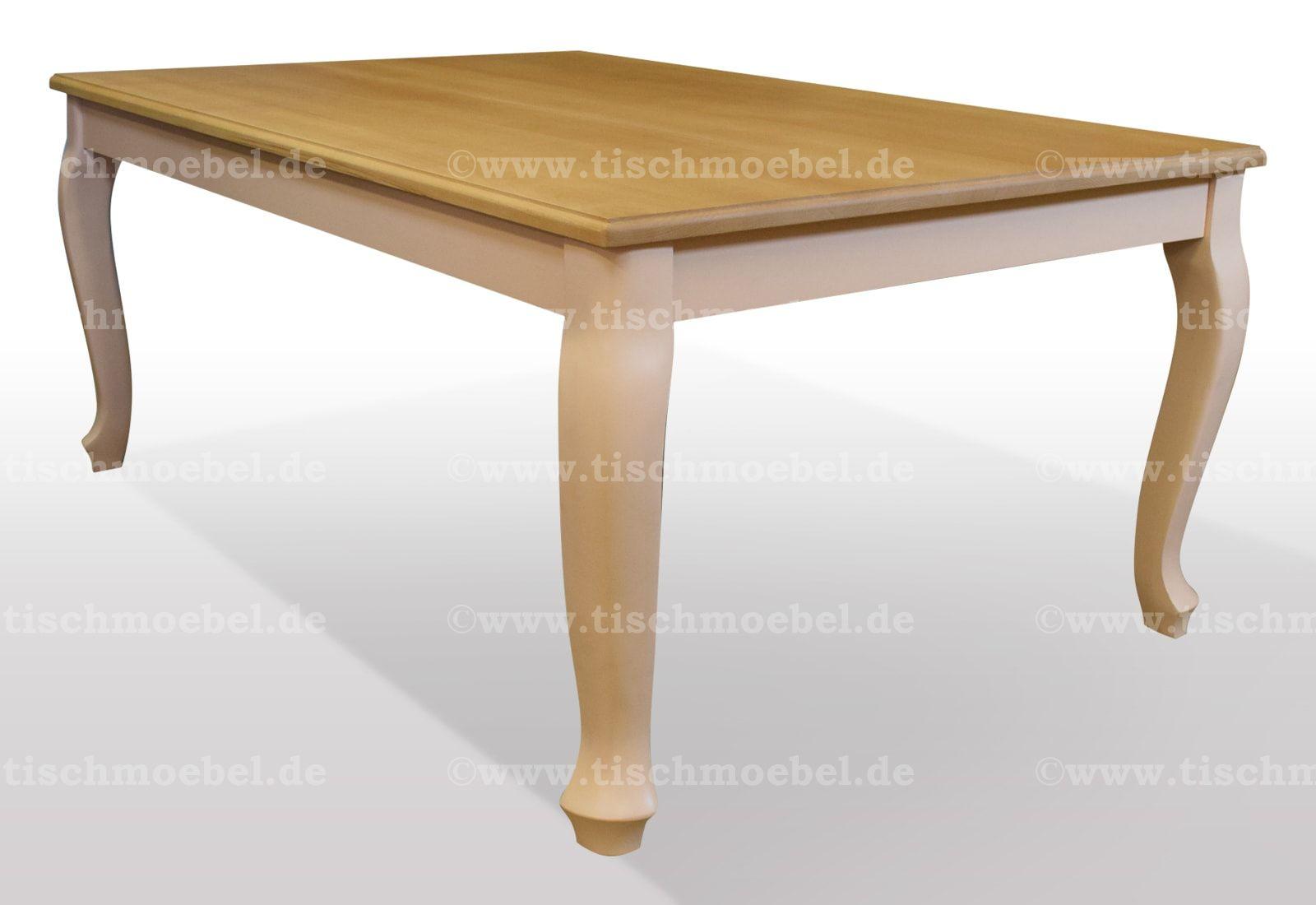 Tisch Buche massiv Breite 120cm / Länge wählbar (mit