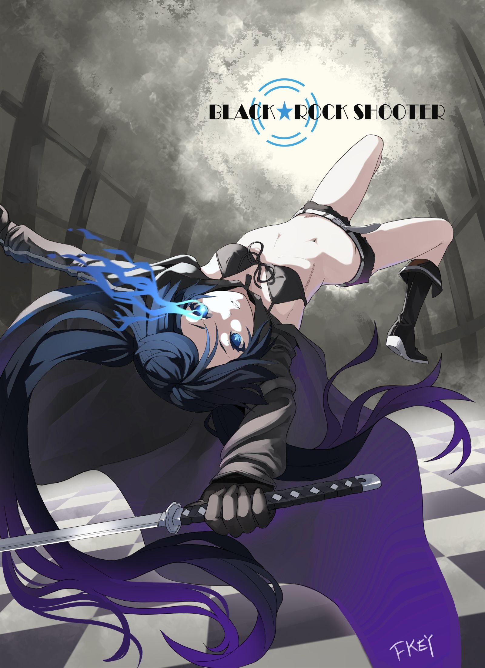 anime vocaloid black rock shooter Black☆Rock Shooter