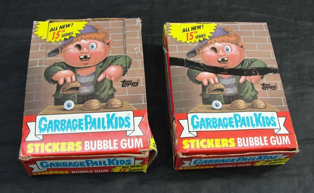 Ebay Sponsored Topps Garbage Pail Kids 1988 15th Series 48 Wax Packs Box Set W Extra Empty Box Garbage Pail Kids Garbage Pail Kids Cards Bubble Stickers