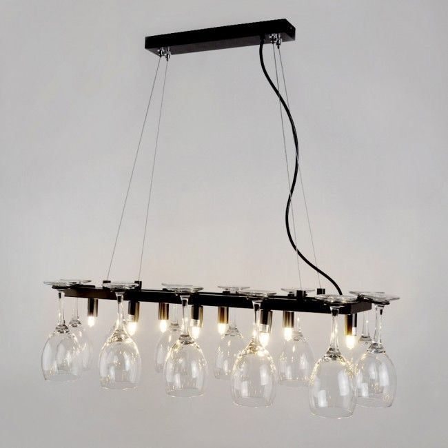 Decorative 12 Glass Holder 8 Way Pendant Light