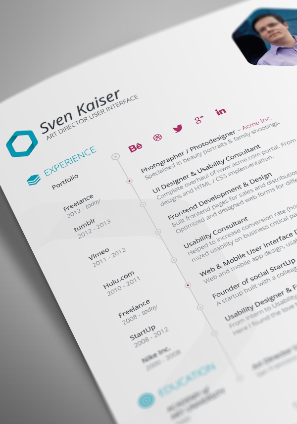 Vita   Graphic  Cv      Ui Ux Infographics And