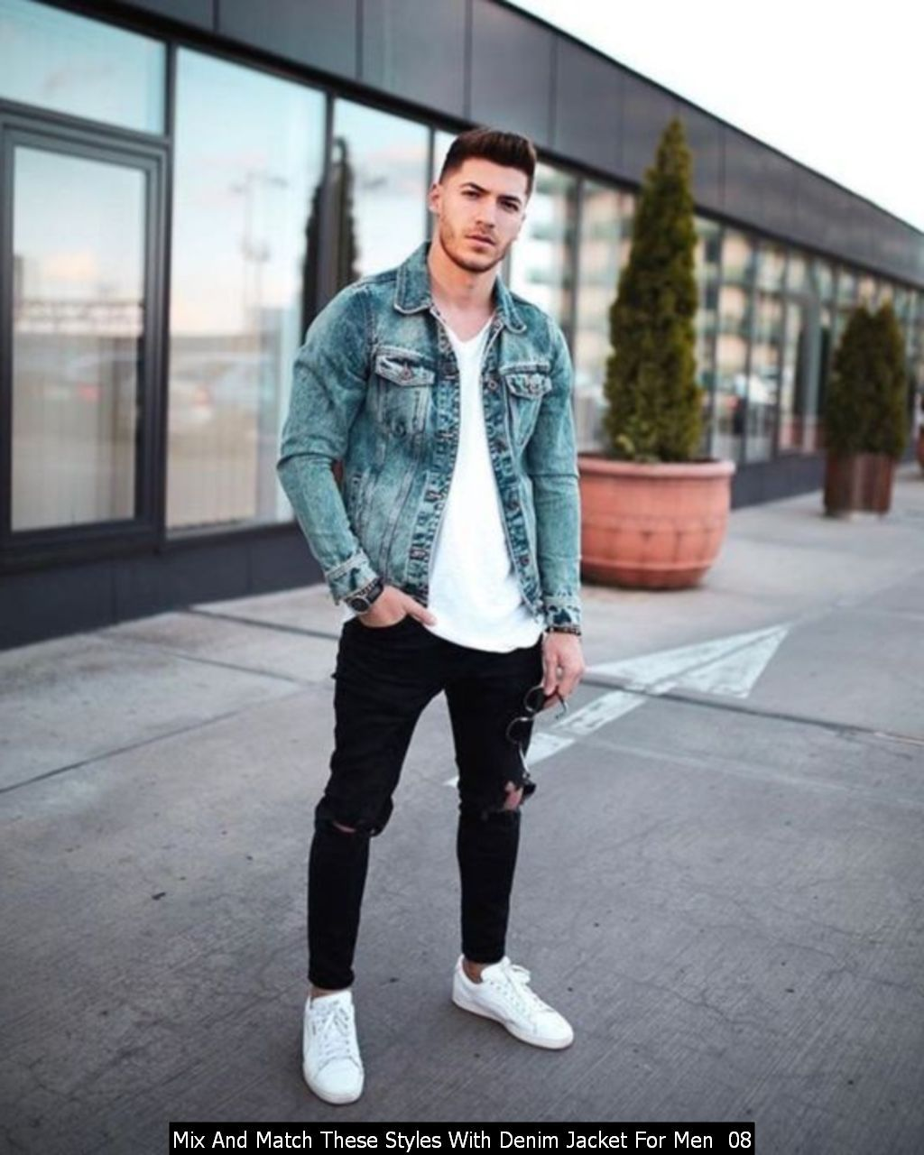 Mix And Match These Styles With Denim Jacket For Men Mens Casual Outfits Winter Fashion Casual Mens Outfits [ 1280 x 1024 Pixel ]