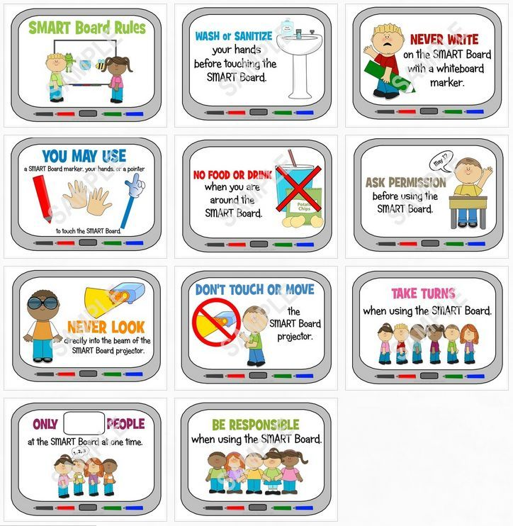 Smartboard Rules Print At The Beginning Of The Year  Beginning