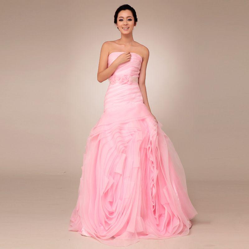 New arrival Strapless Organza bridal gown | Quinceañera | Pinterest ...