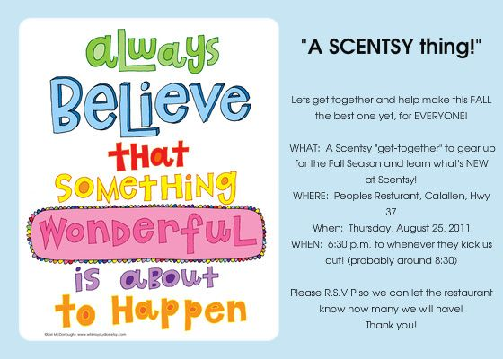 Being an Independent Scentsy Consultant is AMAZING – Scentsy Party Invitations