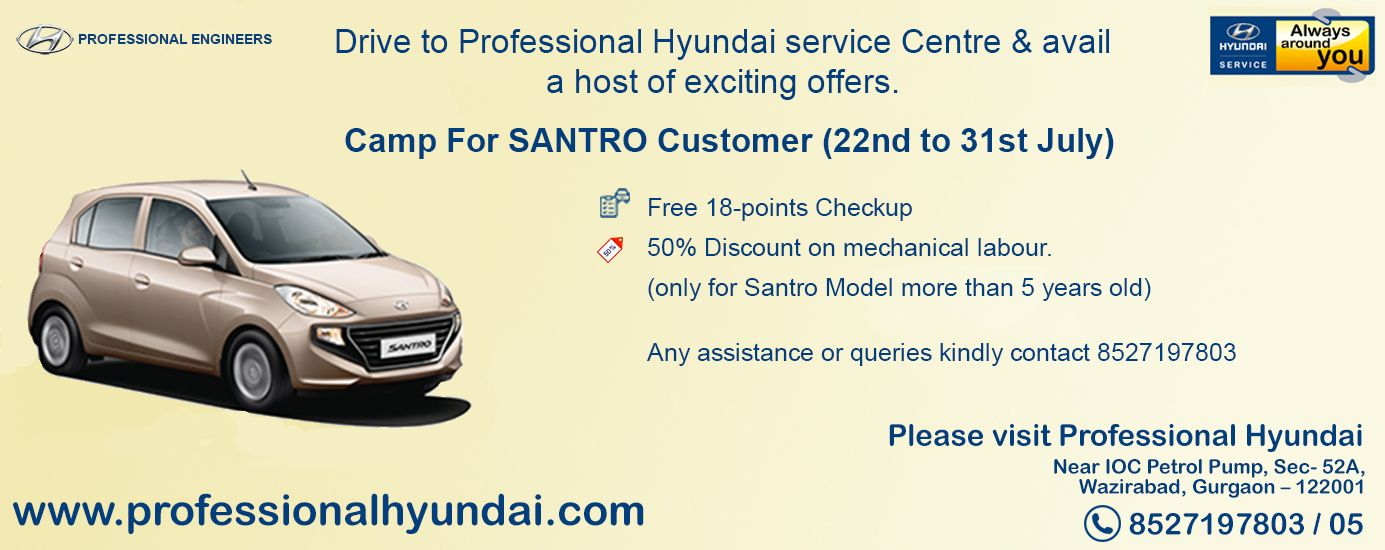 Drive to Professional Hyundai service Center & avail a