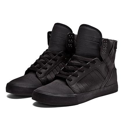 SUPRA SKYTOP | BLACK - BLACK | Official SUPRA Footwear Site