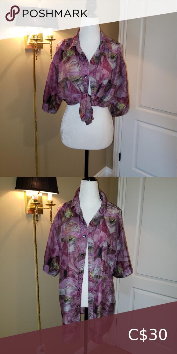 Breezy Silk Mauve Button Down
