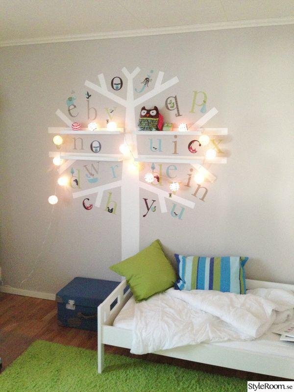 barnrum,träd,väggmålning,väggmålning barnrum,barnrumsinredning Huset Pinterest