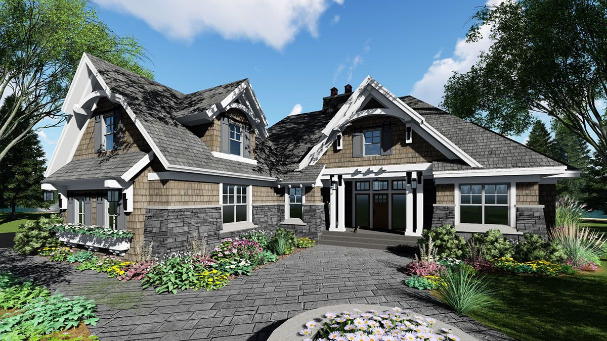 Plan 14648RK: Richly Detailed Craftsman House Plan