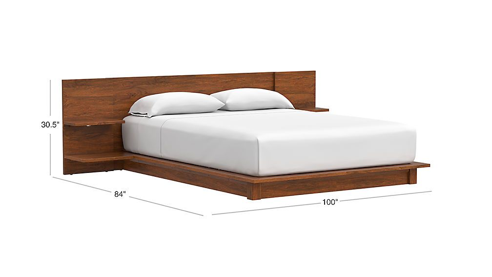 Andes Acacia Platform Bed Reviews Cb2 In 2021 Platform Bed Designs Small Guest Bedroom Simple Bed
