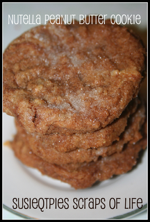 Nutella Peanut Butter Cookie Recipe/ Nutella AND Peanut Butter? Can't beat that combination.