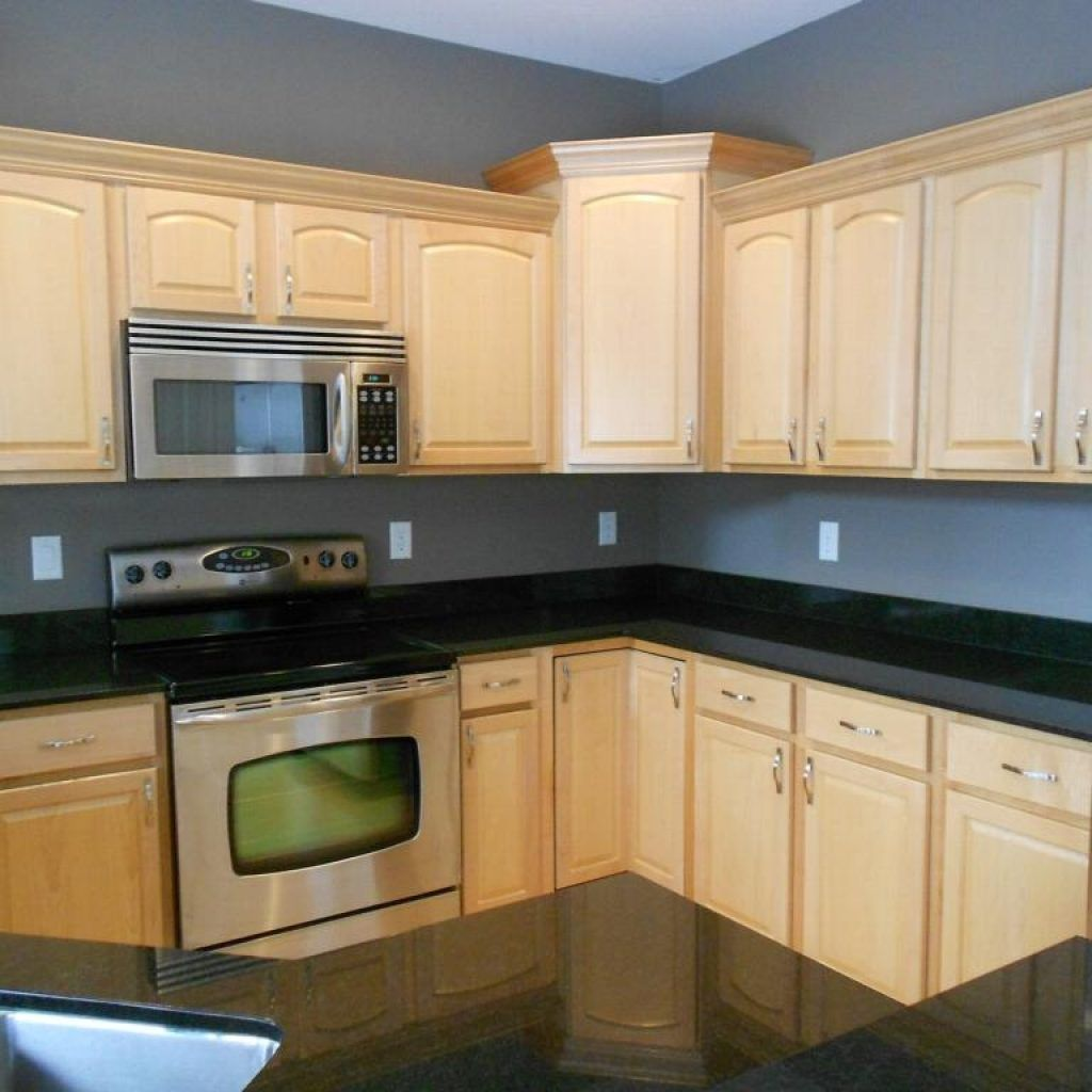 Kitchens With Maple Cabinets And Black Countertops   Maple ... on Light Maple Cabinets With Black Countertops  id=46081