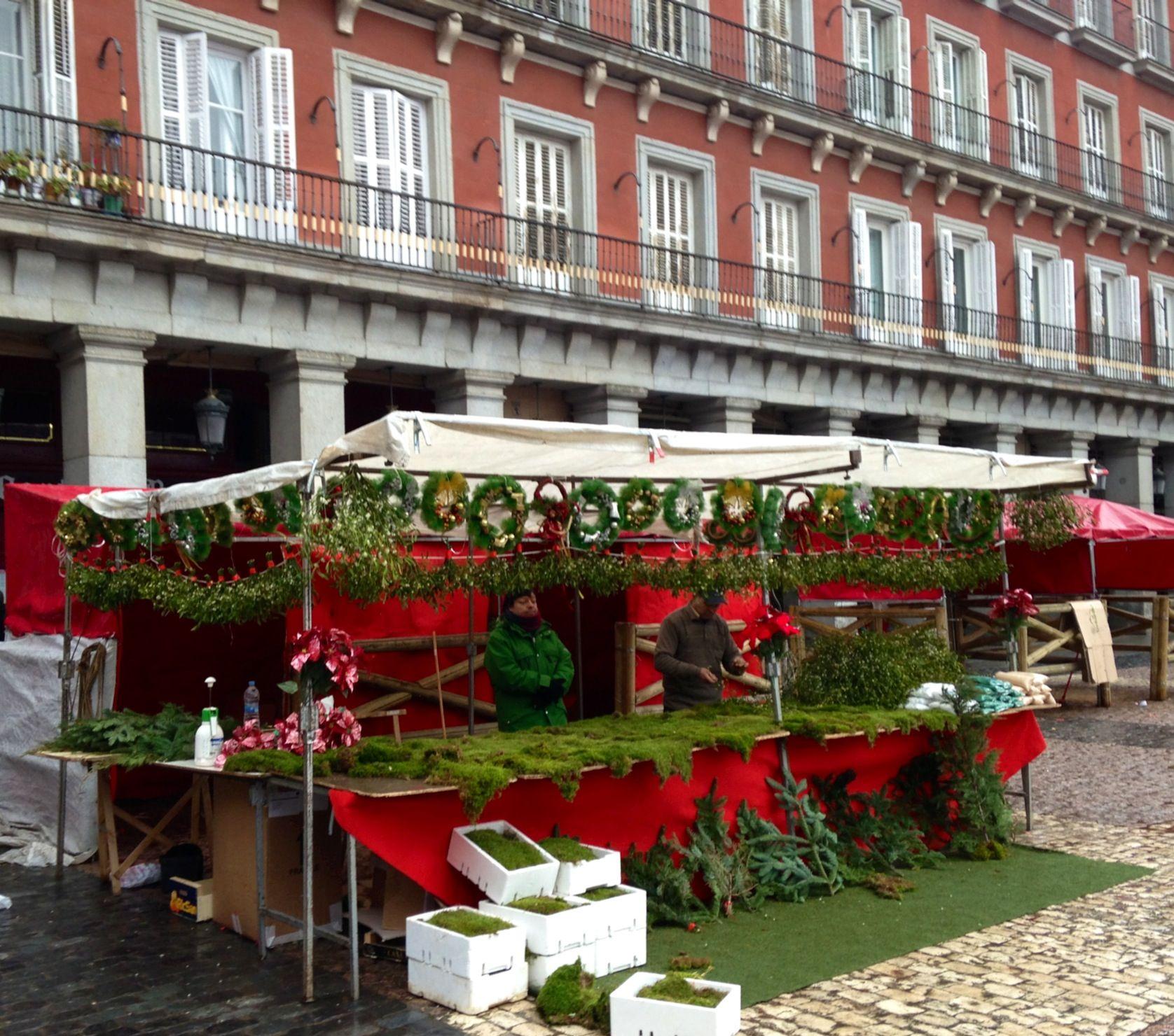 Christmas day . Plaza mayor , Madrid