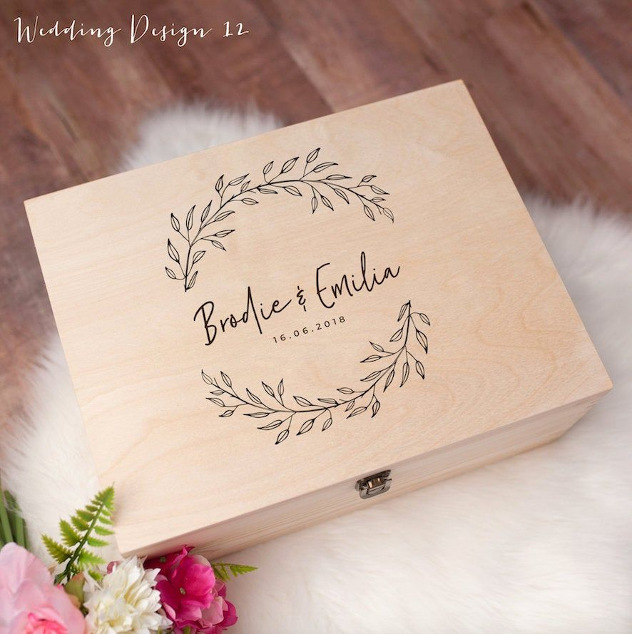 Keepsake Wedding Gifts: Personalised Wedding Gift Keepsake Box