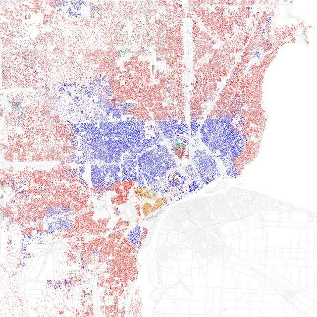 Race And Ethnicity Detroit Detroit And City - Us race map