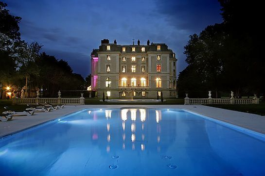 Auvergne, France (Continued)The Magnificent Pool Is At Its Most Striking  After Dark