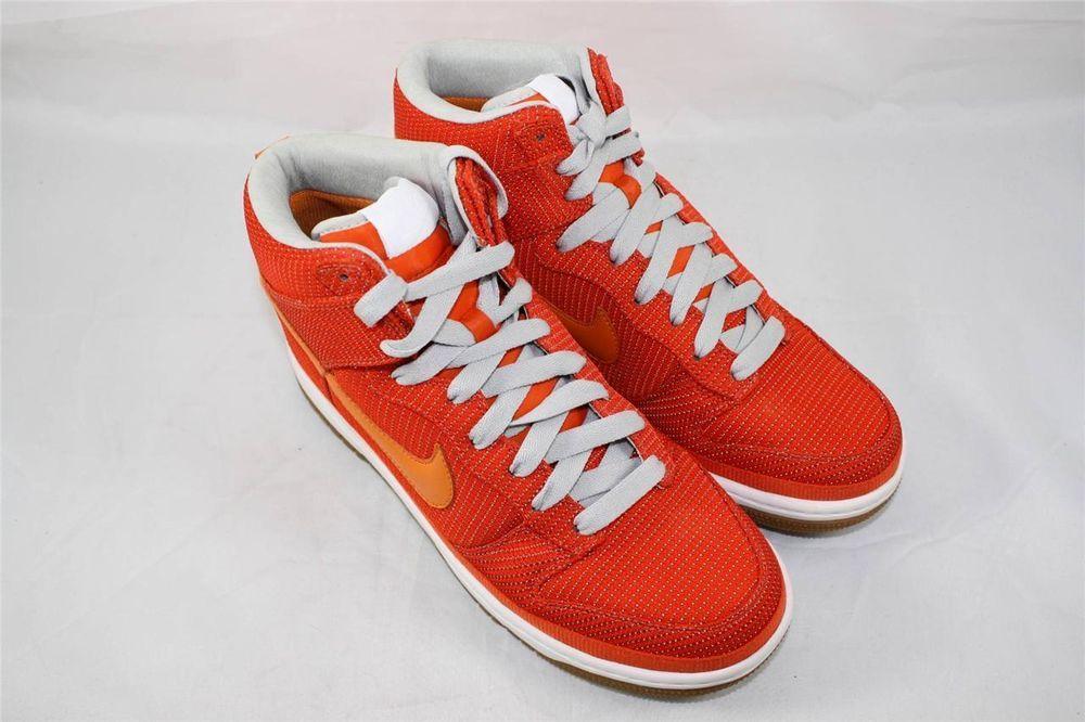 Brand New Nike Dunk High Supreme Size 8.5 Sneakers Orange Blaze Grey 324759  881 #Nike