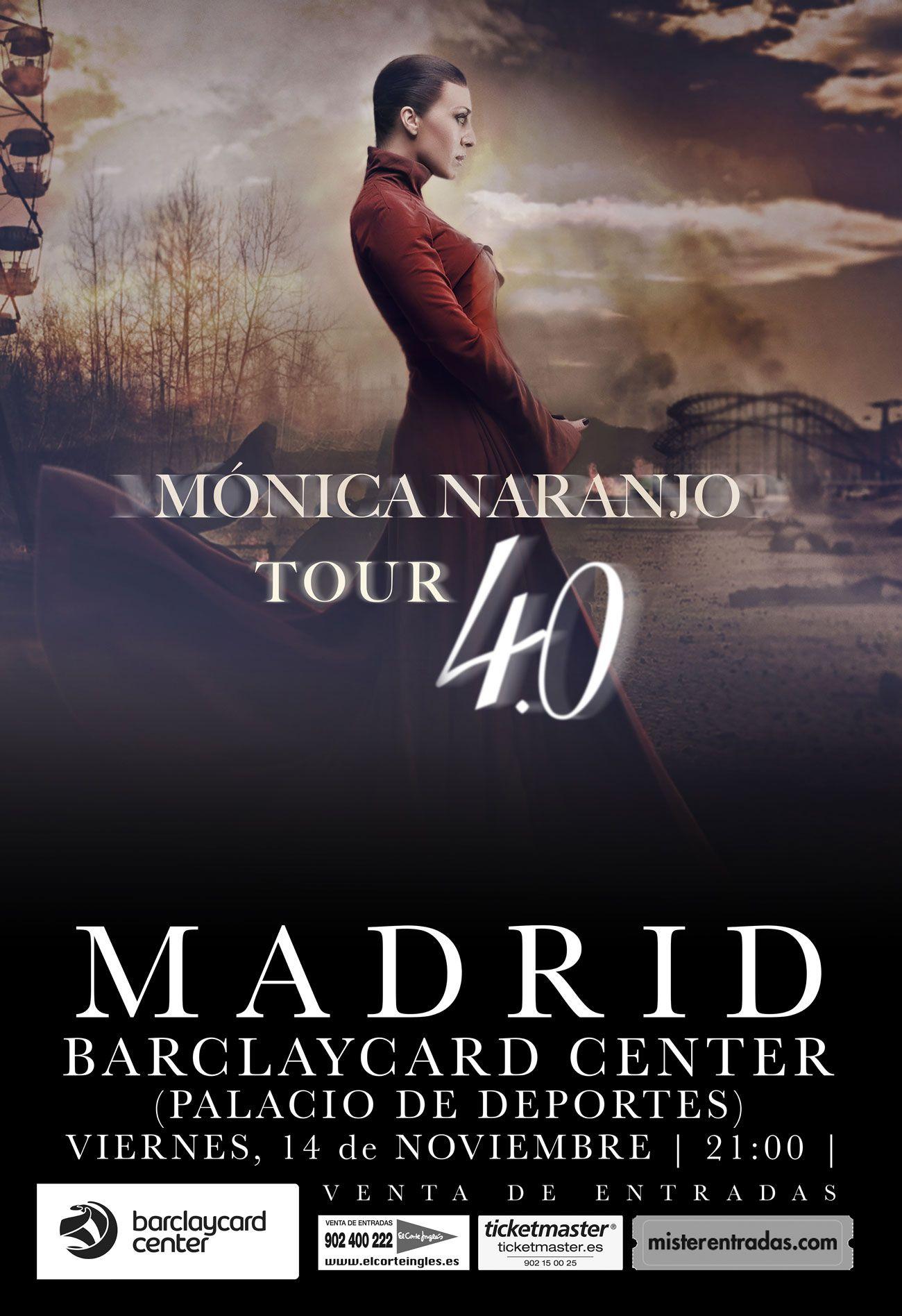 Publicidad En Quioscos Y Radio Mónica Naranjo Tour 4 0 Abba Publicidad Monica Naranjo Abba Venta De Entradas