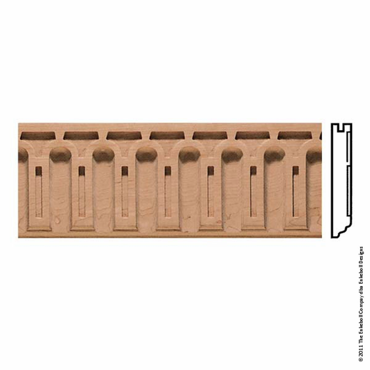 5 3 8 Inch W X 7 8 Inch P 2 Inch Repeat Molding Roman Arch 8 Apos Length In 2020 Wood Crown Molding Crown Molding Styles Moulding Profiles