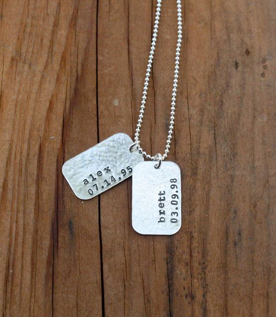 Dog Tag Necklace Personalized Dog Tag Sterling Silver New