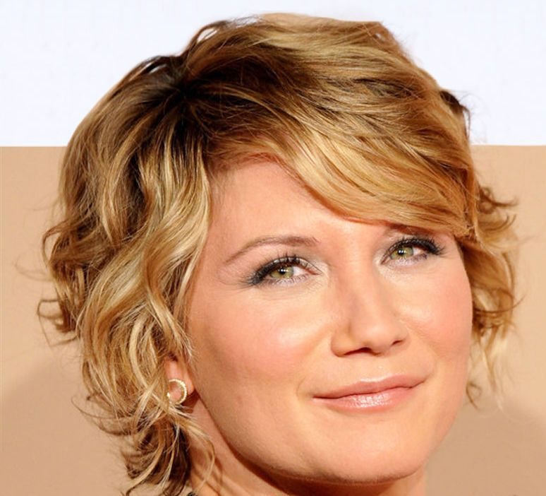 The short hairstyles for older women with curly hair are