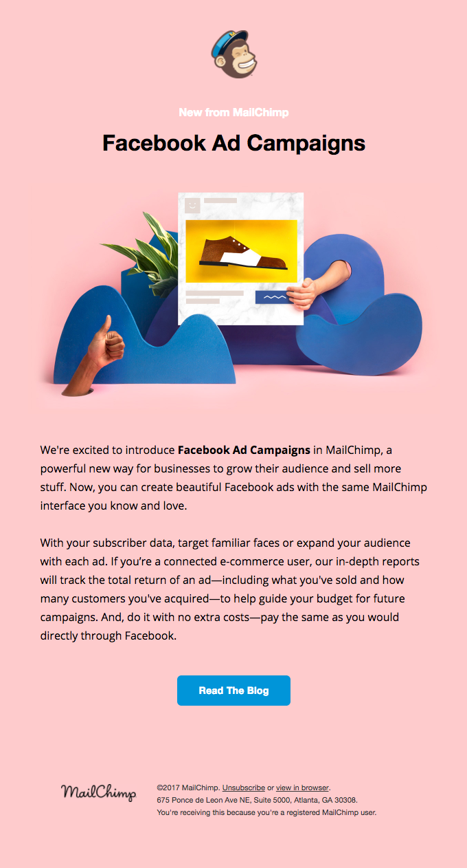 Facebook Ad Campaigns In Mailchimp Are Here Really Good Emails