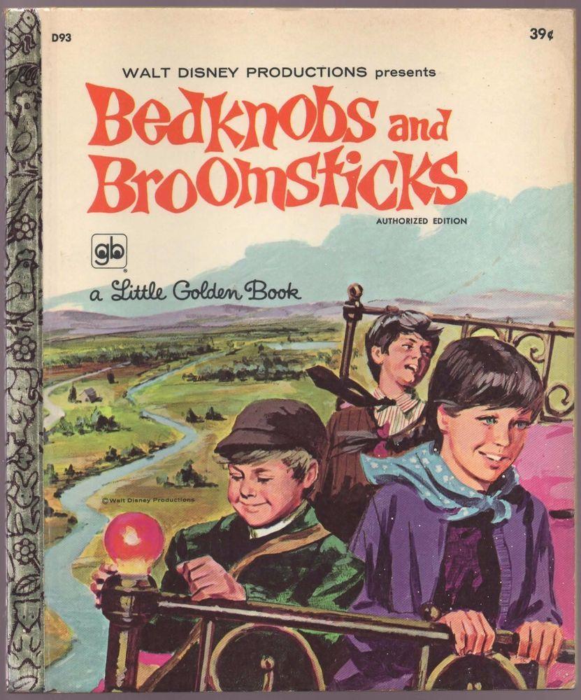 Vintage Disney Little Golden Book BEDKNOBS AND BROOMSTICKS 1st Ed