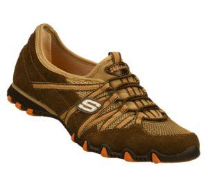 Women's Skechers Bikers - Stereo Sound - OrangeBrown