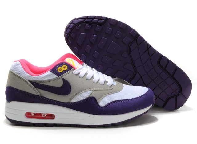 new concept 3b772 c91ac Nike Air Max 1 Vrouwen Grijs Wit Purper Roze nike airmax sneakers  womensfashion