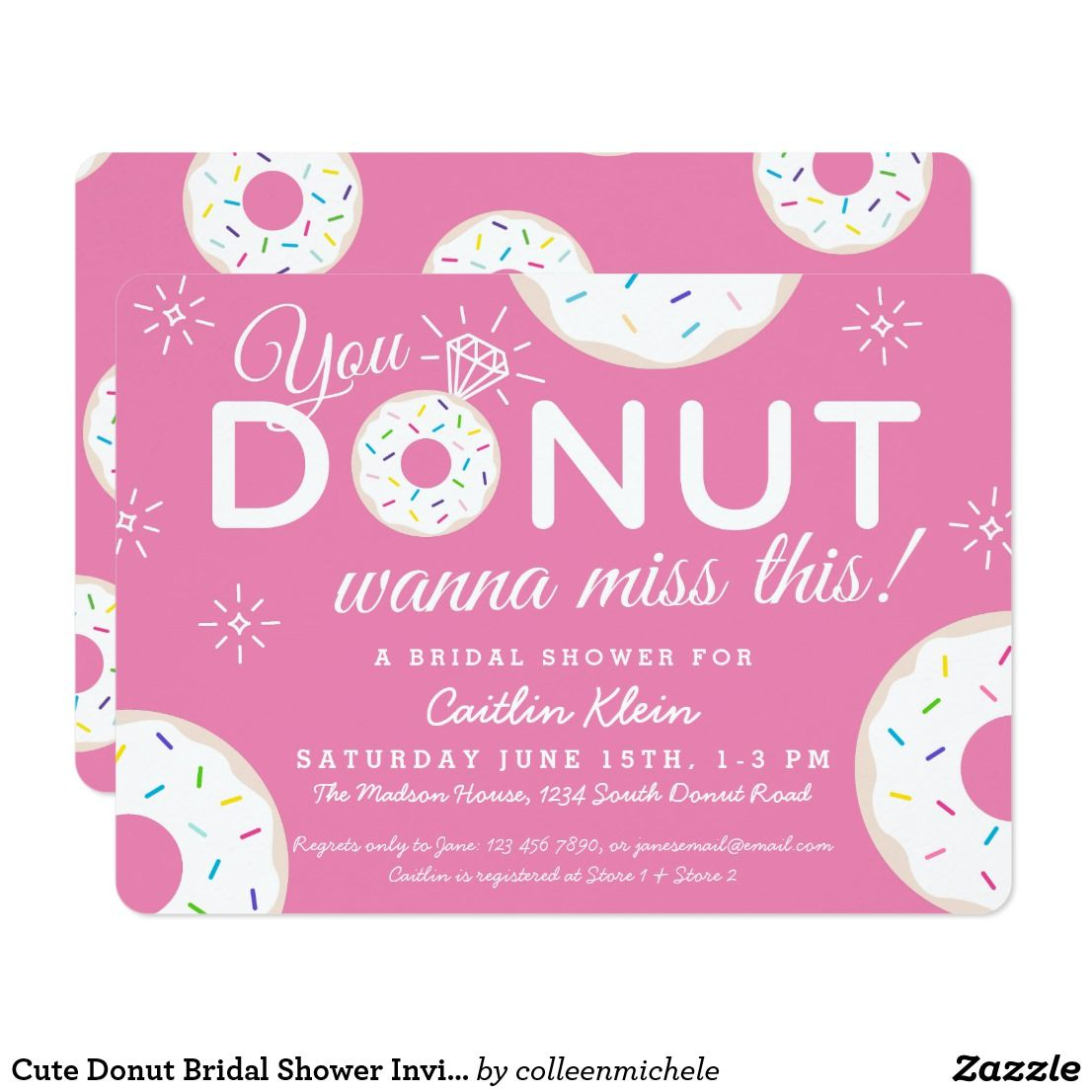 cute donut bridal shower invitations pink cute fun donut invitations for a donut themed bridal shower couples wedding shower or engagement party