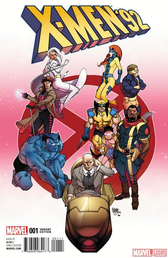 X Men 92 1 Variant Cover By Pasqual Ferry X Men Marvel Comics Art Comics