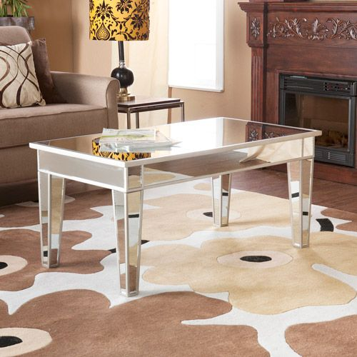 Mirage Mirrored Cocktail Table Walmart Com Home Wish