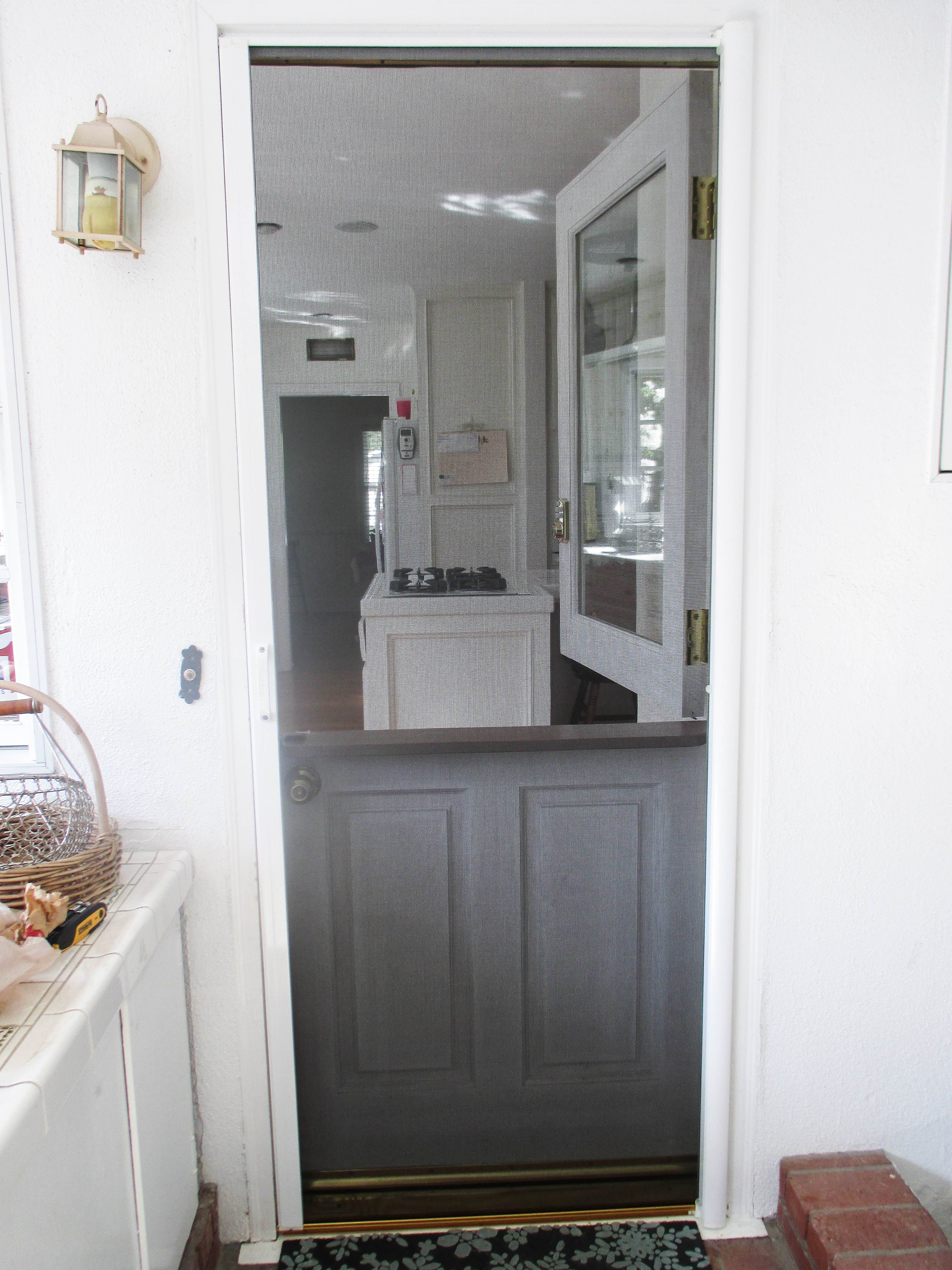 Got A Dutch Door That Needs Retractable Screen Wver Type Of You Have We For It Don T Discriminate
