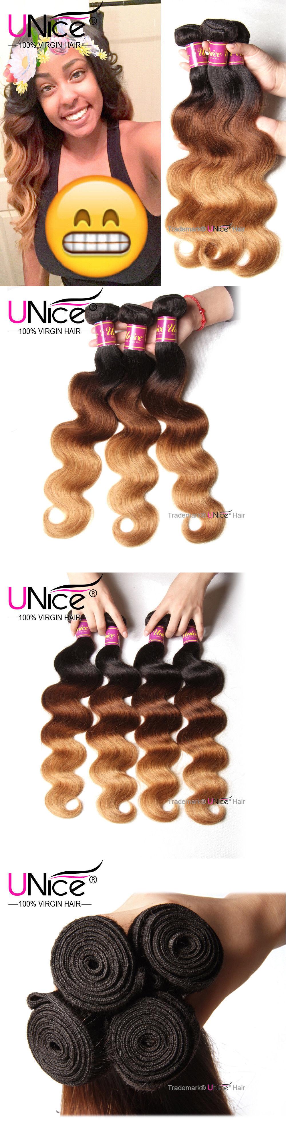 Hair Extensions Unice Brazilian Body Wave Human Hair 3 Bundles