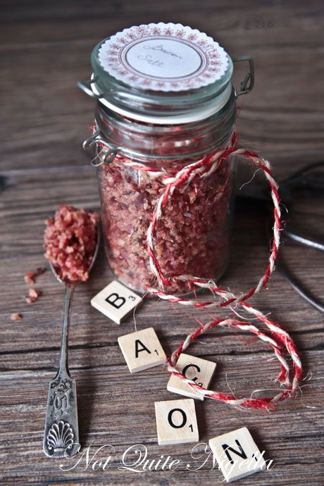 A Jar of Homemade Bacon Salt food Pinterest Food gifts, Diy