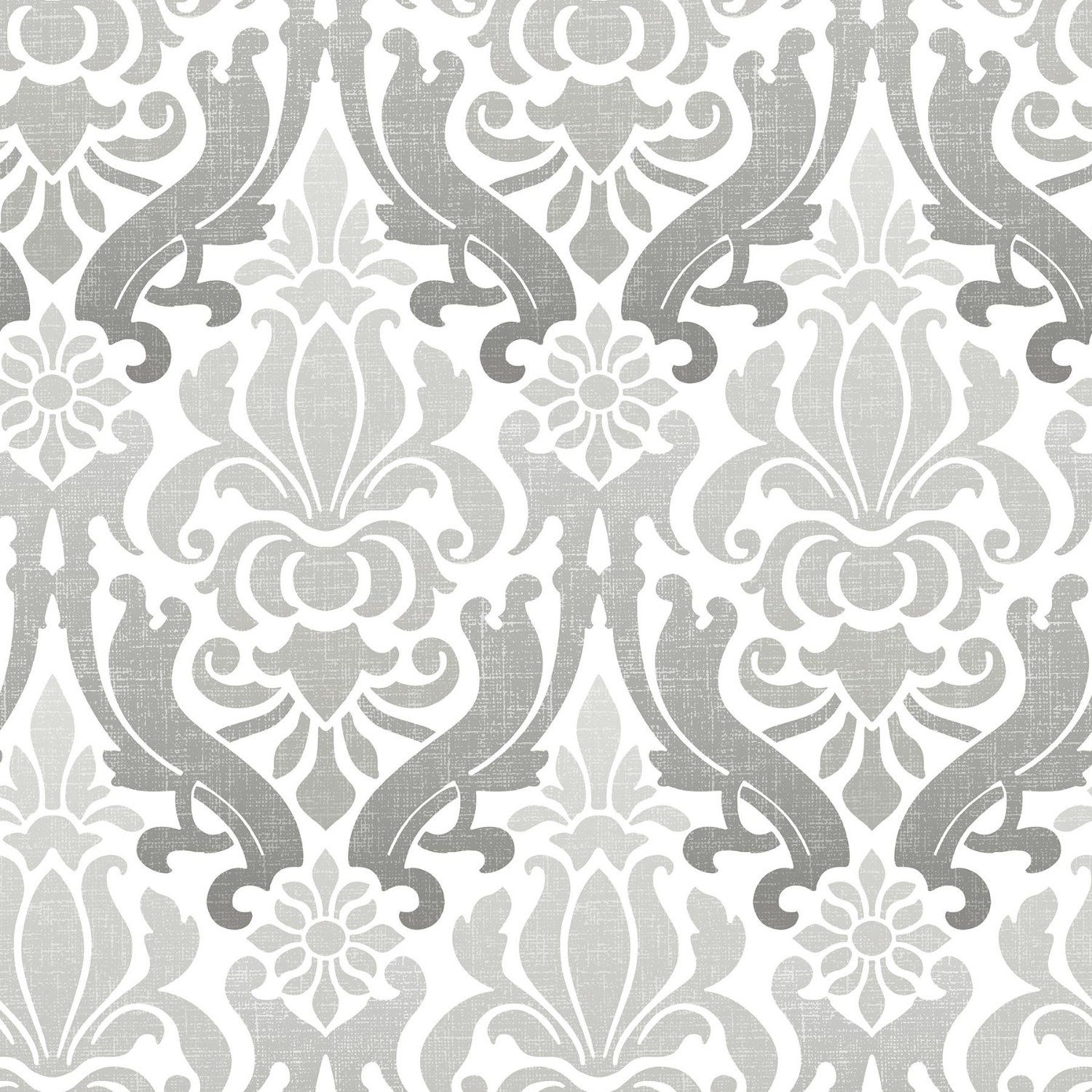 Brewster Nouveau Damask Peel and Stick Wallpaper