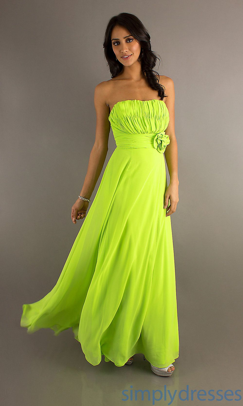 Floor length strapless dress cheap prom dresses simply dresses neon junior bridesmaid dress ombrellifo Images