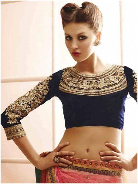Image result for Quarter sleeves blouse design