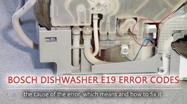 Bosch Dishwasher E19 Error Code Bosch Dishwashers Bosch Error Code
