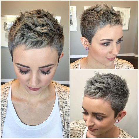10 Stylish Pixie Haircuts - Women Short Undercut H