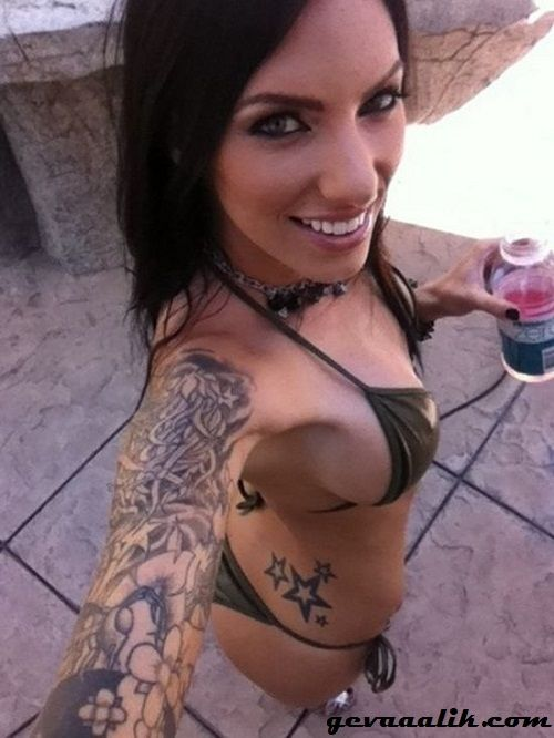 Good tattoo girl self shot