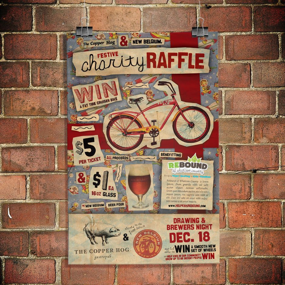 copper hog poster new charity raffle flyer ideas copper hog poster new charity raffle