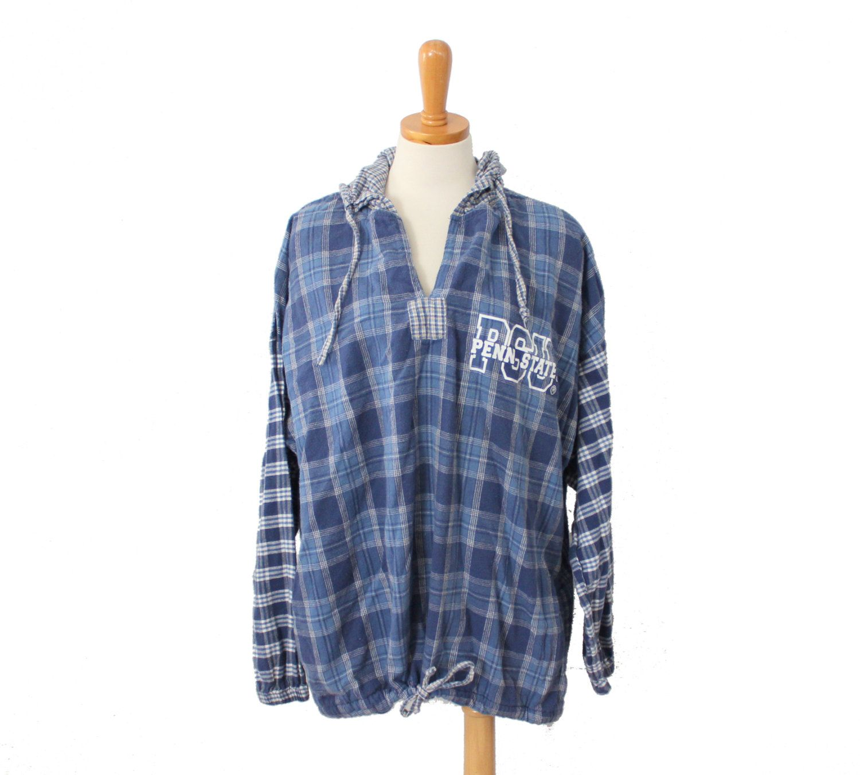 Vintage 90s Penn State University Pullover Flannel Shirt // unisex ...